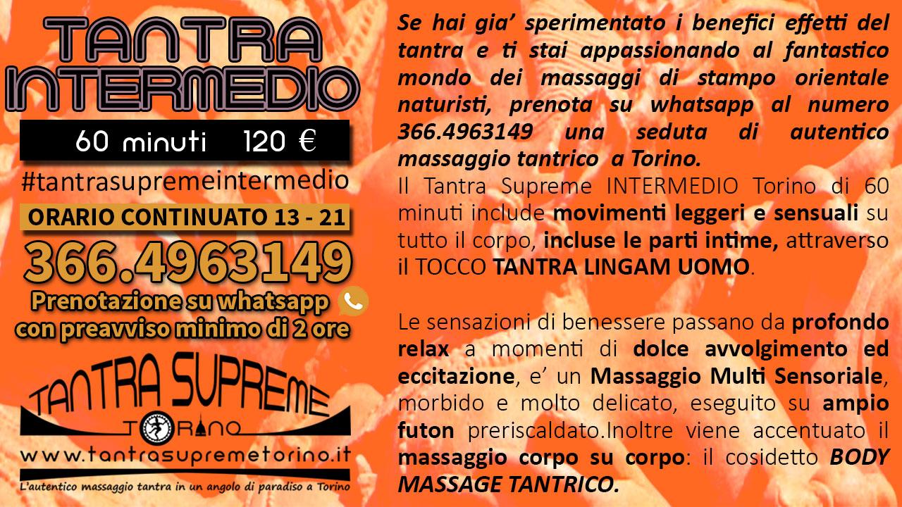 massaggio tantra supreme intermedio promozione torino